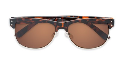 Folded of Folsom #8395 in Dark Tortoise Frame with Amber Lenses