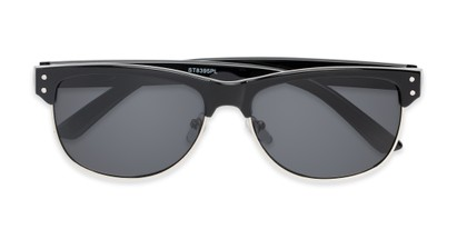 Folded of Folsom #8395 in Black Frame with Grey Lenses