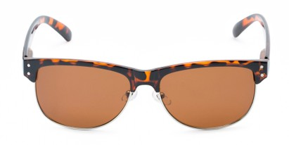 Front of Folsom #8395 in Dark Tortoise Frame with Amber Lenses
