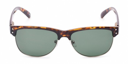 Front of Folsom #8395 in Light Tortoise Frame with Green Lenses