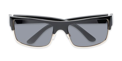 Folded of Ford #7031 in Glossy Black/Gold Frame with Smoke Lenses