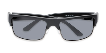 Folded of Ford #7031 in Matte Black/Grey Frame with Smoke Lenses