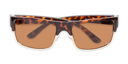 Folded of Ford #7031 in Glossy Tortoise/Gold Frame with Amber Lenses