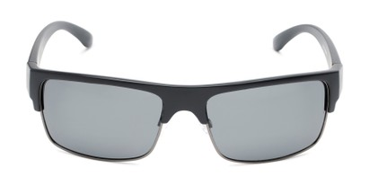 Front of Ford #7031 in Matte Black/Grey Frame with Smoke Lenses