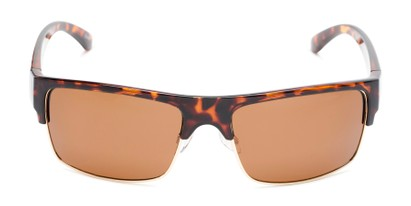 Front of Ford #7031 in Glossy Tortoise/Gold Frame with Amber Lenses