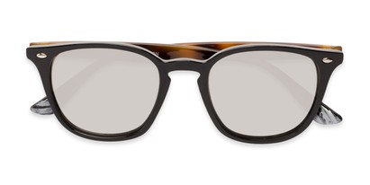 Folded of Franklin #5126 in Black/Tortoise Frame with Silver Mirrored Lenses