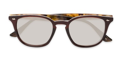 Folded of Franklin #5126 in Brown/Camo Frame with Gold Mirrored Lenses