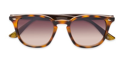 Folded of Franklin #5126 in Tortoise/Brown Frame with Amber Lenses