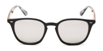 Front of Franklin #5126 in Black/Tortoise Frame with Silver Mirrored Lenses