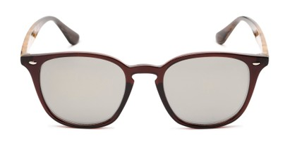 Front of Franklin #5126 in Brown/Camo Frame with Gold Mirrored Lenses