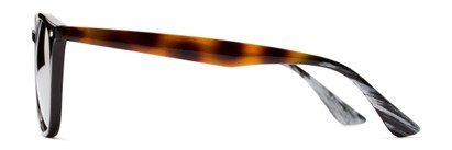 Side of Franklin #5126 in Black/Tortoise Frame with Silver Mirrored Lenses