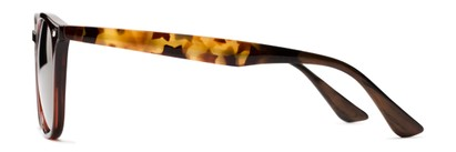 Side of Franklin #5126 in Brown/Camo Frame with Gold Mirrored Lenses