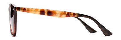 Side of Franklin #5126 in Brown/Camo Frame with Amber Lenses