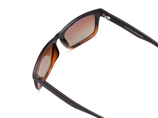 Detail of Garcia #2034 in Tortoise/Black Frame with Amber Lenses