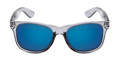 Front of Garnet #6030 in Grey/Clear Frame with Blue Mirrored Lenses
