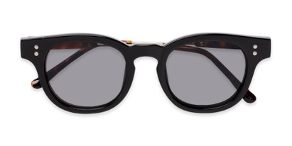 Folded of Geary #540991 in Black/Tortoise Frame with Grey Lenses