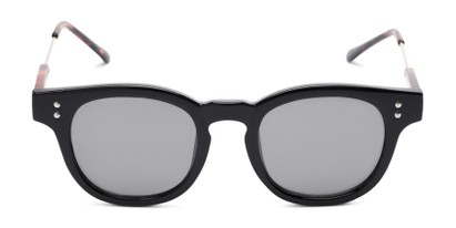 Front of Geary #540991 in Black/Tortoise Frame with Grey Lenses