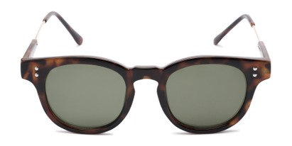 Front of Geary #540991 in Dark Tortoise Frame with Green Lenses