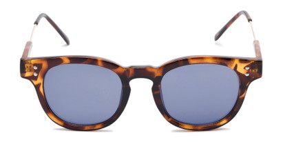 Front of Geary #540991 in Tortoise Frame with Blue Lenses