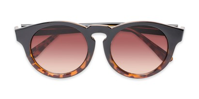 Folded of Dawes #32073 in Black/Tortoise Fade Frame with Amber Lenses