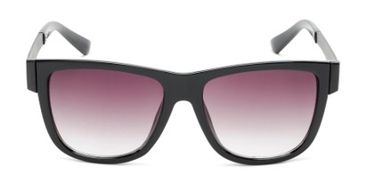 oversized retro shades with metal temple detail