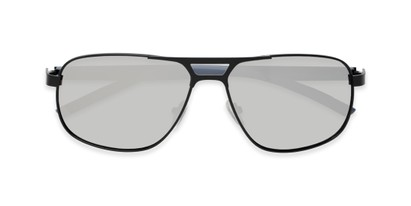 Folded of Gordie #8317 in Black Frame with Silver Mirrored Lenses