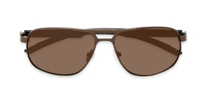 Folded of Gordie #8317 in Brown Frame with Amber Lenses