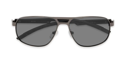 Folded of Gordie #8317 in Grey Frame with Grey Lenses