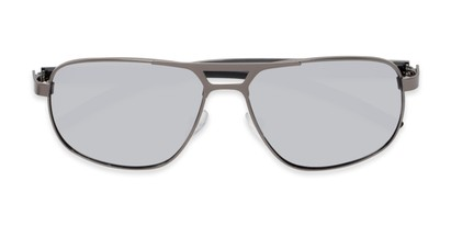 Folded of Gordie #8317 in Grey Frame with Silver Mirrored Lenses