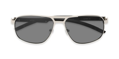 Folded of Gordie #8317 in Silver Frame with Grey Lenses