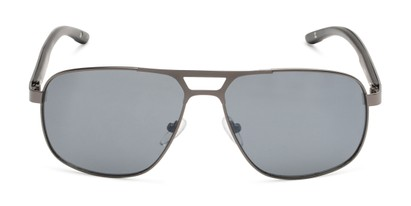Front of Gordie #8317 in Grey Frame with Grey Lenses