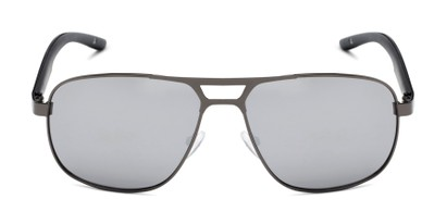 Front of Gordie #8317 in Grey Frame with Silver Mirrored Lenses
