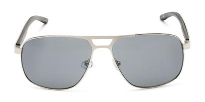 Front of Gordie #8317 in Silver Frame with Grey Lenses
