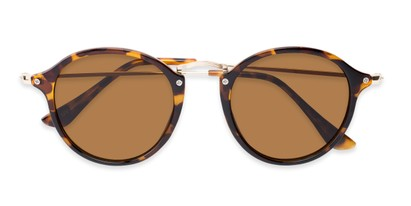 Folded of Grafton #5428 in Tortoise/Gold Frame with Amber Lenses