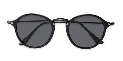 Folded of Grafton #5428 in Black Frame with Grey Lenses