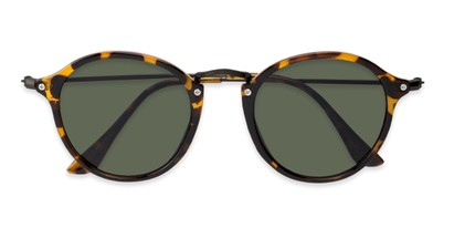 Folded of Grafton #5428 in Tortoise/Black Frame with Green Lenses