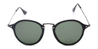 Front of Grafton #5428 in Black/Grey Frame with Green Lenses