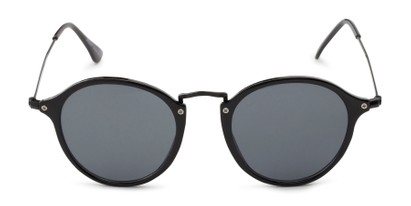 Front of Grafton #5428 in Black Frame with Grey Lenses