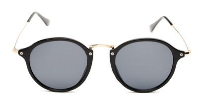Front of Grafton #5428 in Black/Gold Frame with Grey Lenses