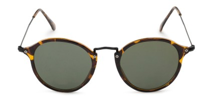 Front of Grafton #5428 in Tortoise/Black Frame with Green Lenses