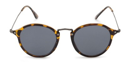 Front of Grafton #5428 in Tortoise/Grey Frame with Grey Lenses