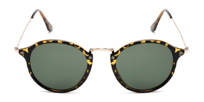 Front of Grafton #5428 in Tortoise/Gold Frame with Green Lenses