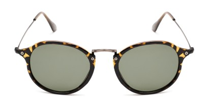 retro round frame it wire temples sun glasses