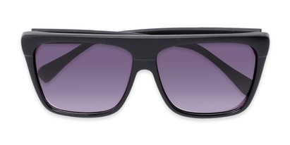 Folded of Grover #8292 in Black Frame with Grey Lenses