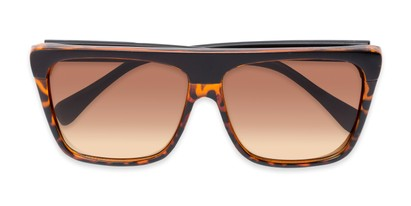 Folded of Grover #8292 in Black/Tortoise Frame with Amber Lenses