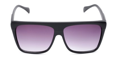 Front of Grover #8292 in Black Frame with Smoke Lenses
