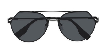 Folded of Gus #4001 in Black Frame with Grey Lenses