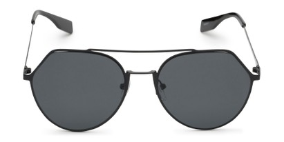 Front of Gus #4001 in Black Frame with Grey Lenses