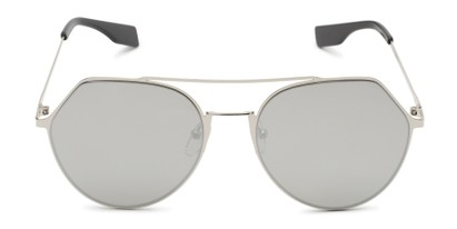 Front of Gus #4001 in Silver Frame with Silver Mirrored Lenses