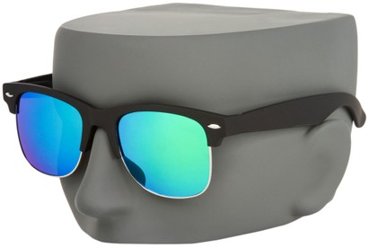 Mirrored Clubmaster Style Sunglasses